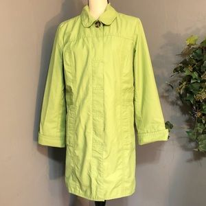Eddie Bauer Long Green Trench Coat
